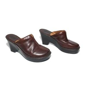 Born brown mules slides shoes Size 8